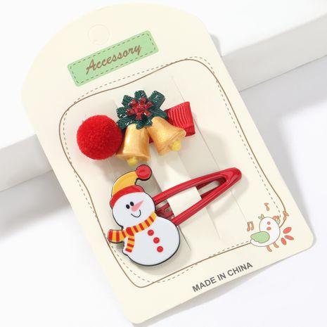 Weihnachtsserie Harz Schneemann Ball Koreanische süße Haarnadel NHJE264831's discount tags