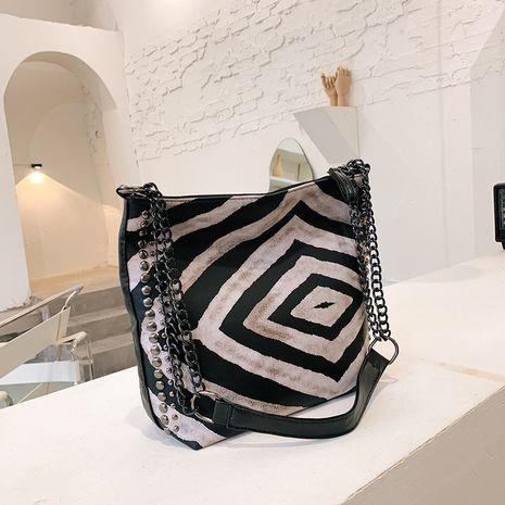 neue trendige Mode große Kapazität One-Shoulder-Zebramuster Wild Bucket Bag NHJZ264844's discount tags