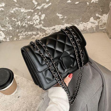 neue trendige Mode Textur Kette wilde One-Shoulder kleine quadratische Tasche NHJZ264876's discount tags