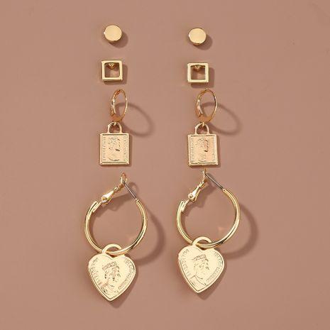 new  metal portrait love  fashion earrings set  NHAN264898's discount tags