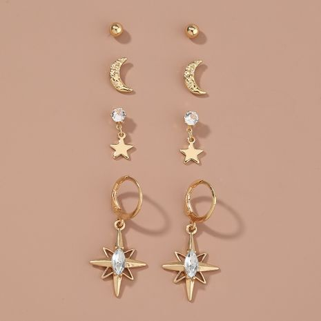 new simple  Korean all-match earrings set NHAN264899's discount tags