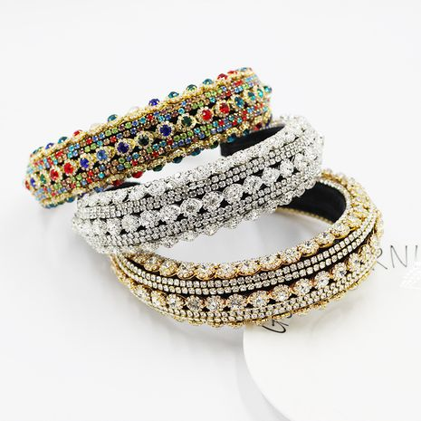 Baroque luxury heavy industry exaggerated color rhinestone headband NHWJ264907's discount tags