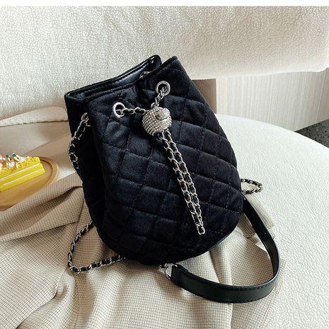 neue trendige Mode Samt Retro Single Shoulder Messenger Bucket Bag NHLH264982's discount tags
