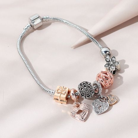 Korean fashion creative  trend line peach heart  bracelet NHPS265022's discount tags