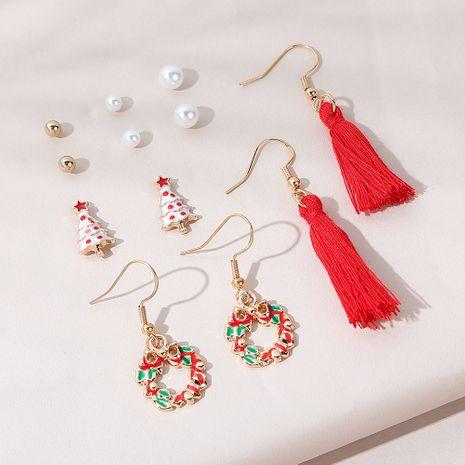 Christmas tree  wreath earrings set NHPS265029's discount tags