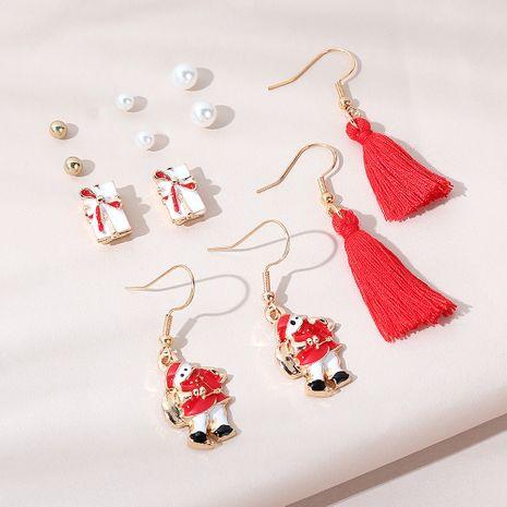 Christmas  wild retro fashion snow doll earrings set NHPS265030's discount tags
