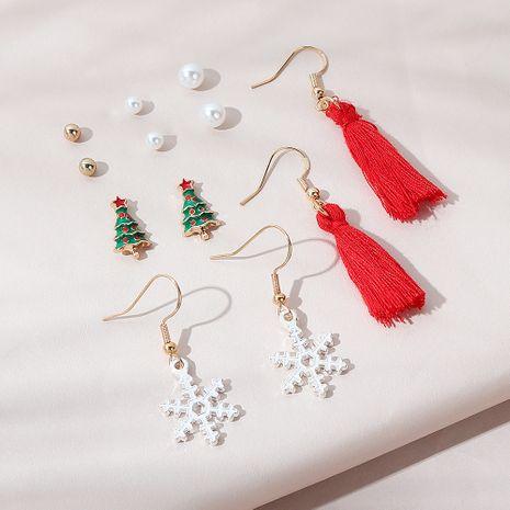 popular fashion  Christmas tree earrings set NHPS265031's discount tags