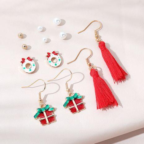 Conjunto de pendientes populares de tendencia navideña. NHPS265032's discount tags