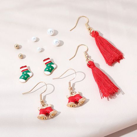 Christmas trend  popular all-match  bell earrings set NHPS265034's discount tags