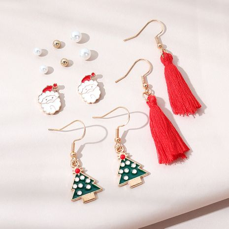 Christmas fashion  trend line Santa Claus earring set NHPS265035's discount tags