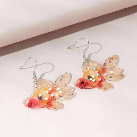Korean version of creative wild personality fashion small goldfish earrings NHPS265044's discount tags