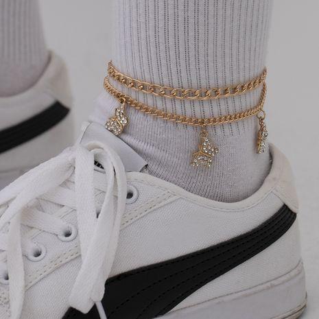 bracelet de cheville papillon en alliage géométrique exagéré micro-clouté de mode créative NHXR265152's discount tags