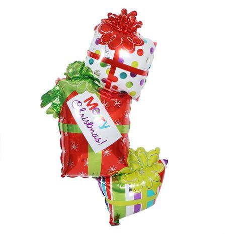 124x70cm Heiligabend Party Dekoration große Weihnachtsgeschenk Aluminium Ballon Großhandel NHQC265272's discount tags