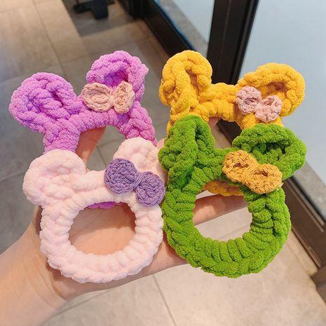 Korea New Fashion Hasenohr Wolle gestrickt Haar Haargummis NHCQ265173's discount tags