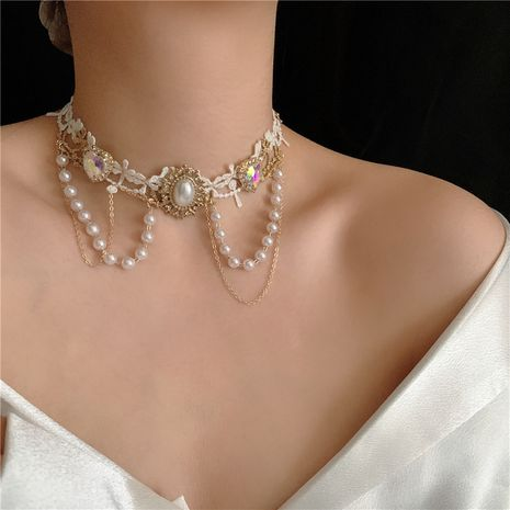 New Lolita White Lace Choker  NHYQ265196's discount tags