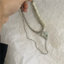 fashion  pearl love hip hop double necklace  NHYQ265201