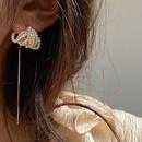 retro handmade multilayer pearl single  earrings  NHYQ265202