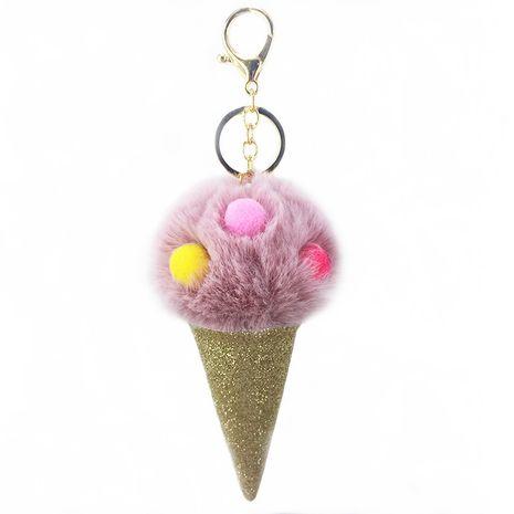 Nouveau porte-clés boule poilue cornet de crème glacée NHAP265229's discount tags