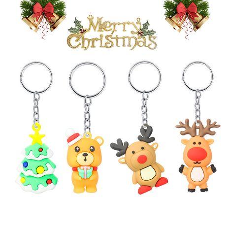 Porte-clés en caoutchouc souple PVC bonhomme de neige de Noël NHAP265230's discount tags