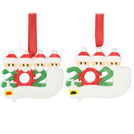 Pendentifs d'arbre de Noël Santa salutations manuscrites NHAP265235's discount tags
