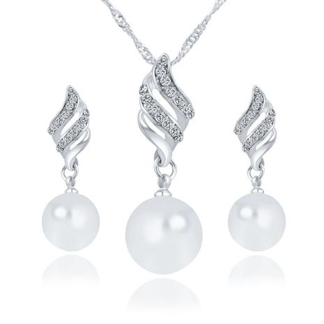 fashion new simple pearl  necklace earrings  set NHYI265237's discount tags