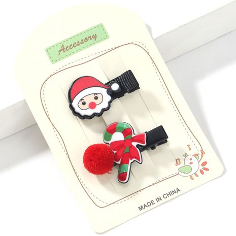 Weihnachtsserie Harz Santa Claus Cane Haarnadel NHJE265245's discount tags