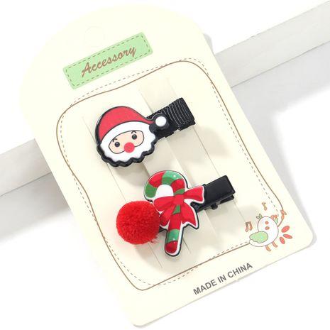 Épingle à cheveux en résine Santa Claus Cane NHJE265245's discount tags