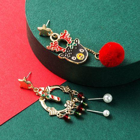 new fashion creative Christmas dripping elk hair ball earrings NHLN265248's discount tags