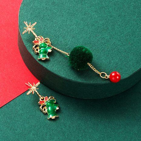 neue Weihnachtsmode Persönlichkeit asymmetrische silberne Nadelohrringe NHLN265249's discount tags