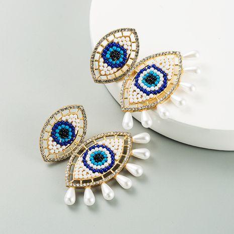 Boucles d'oreilles en alliage de perles incrustées en alliage de perles de démon NHLN265268's discount tags