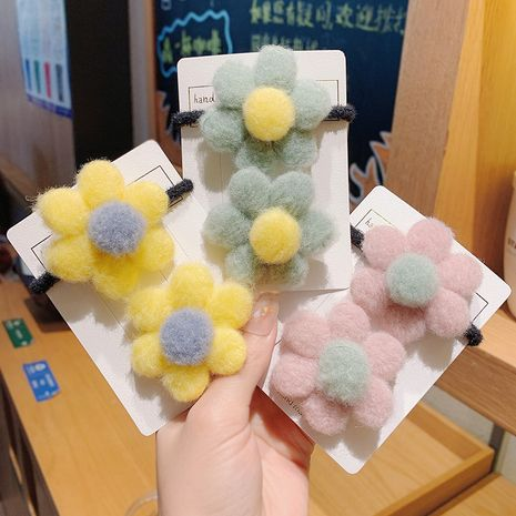 Korean felt flower hair rope  NHCQ265275's discount tags