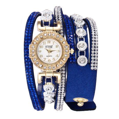 Reloj de pulsera de diamantes con correa trenzada de PU NHSS265279's discount tags