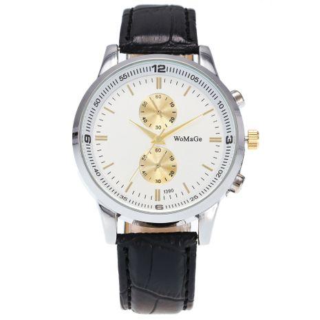 moda popular casual plata cuarzo reloj de los hombres NHSS265277's discount tags
