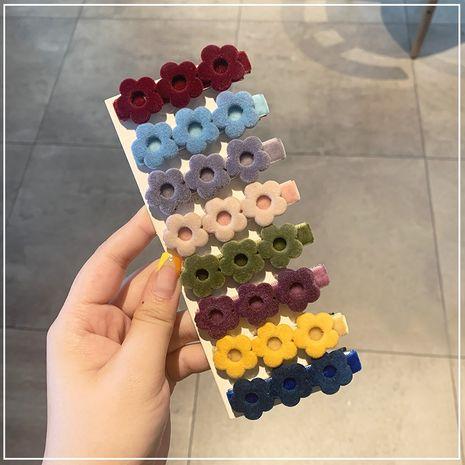 clip de côté mignon velours fleur de mode NHOF265306's discount tags