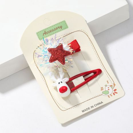 Épingle à cheveux élan de Noël boules colorées en résine NHJE265311's discount tags