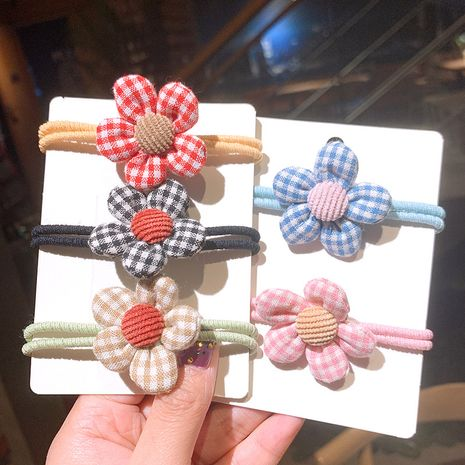 simple korean cute flower hair rope  NHSA265328's discount tags