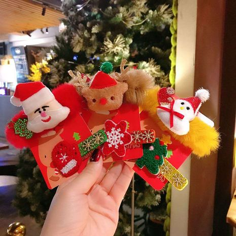 Christmas fashion cute  velvet hair clip two-piece set NHSA265330's discount tags