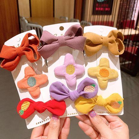 Korean cute  corduroy bow  hairpin set  NHSA265339's discount tags