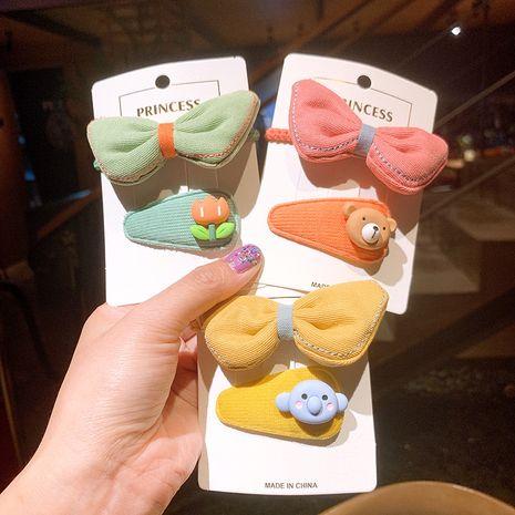 Koreanische Bonbonfarbe Flügel Stoff BB Clip Haarring Set NHSA265340's discount tags