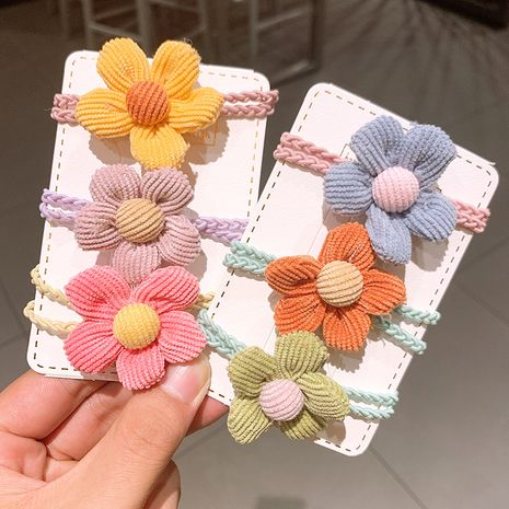 Corde coréenne en velours côtelé fleur couleur bonbon NHSA265341's discount tags