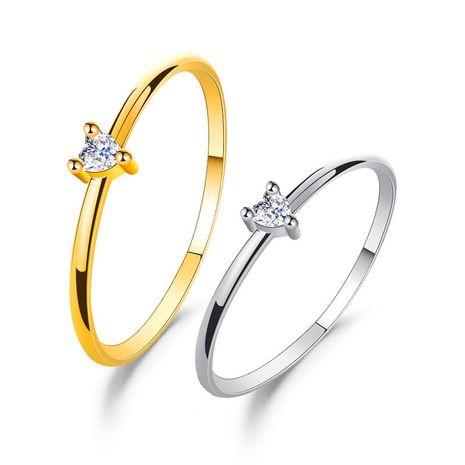 bague d'amour simple en zircon incrusté en forme de cœur NHDP265356's discount tags