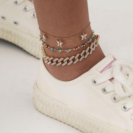 bracelet de cheville papillon rétro créatif simple multicouche NHXR265362's discount tags