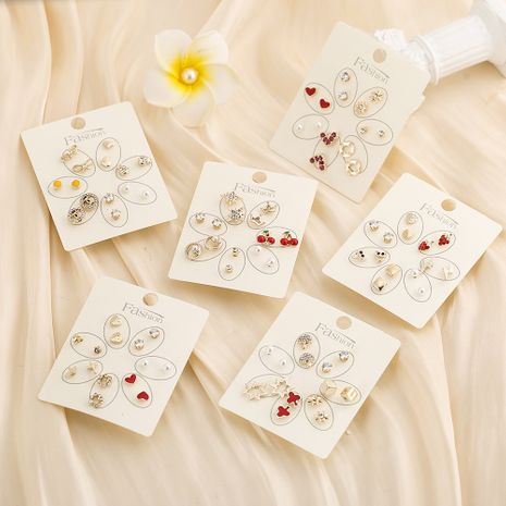 Conjunto de pendientes creativos lindos con lazo nuevo coreano NHSD265367's discount tags