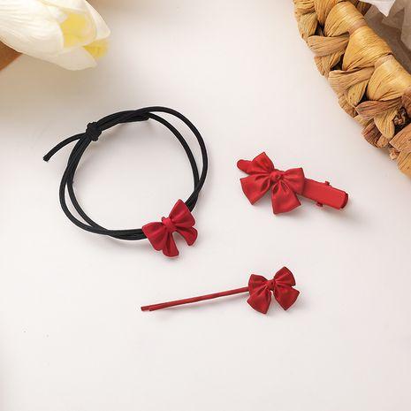 Épingle à cheveux ou anneau de cheveux rouge doux NHMS265397's discount tags