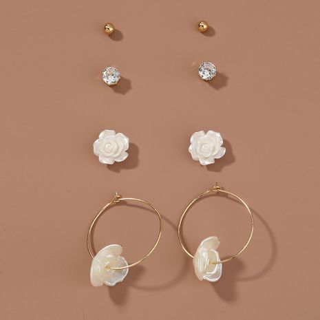 Korean  new simple all-match  rose  earrings set NHAN265412's discount tags