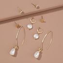 New  simple  diamond pearl  drop earrings NHAN265418