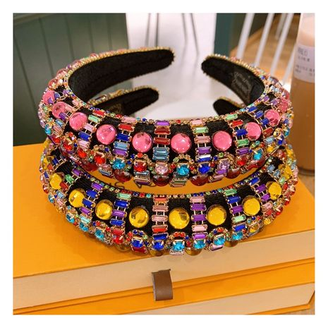 crystal beads thickened sponge wild headband  NHHD265425's discount tags