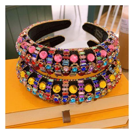bandeau sauvage éponge épaissie perles de cristal NHHD265425's discount tags