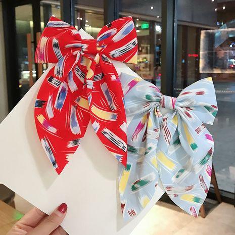Korean  simple geometric graffiti bow  hair top clip  NHDQ265439's discount tags