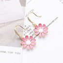 Korea new simple  daisy earrings  NHLJ265452